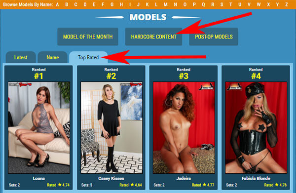 grooby girls shemale models
