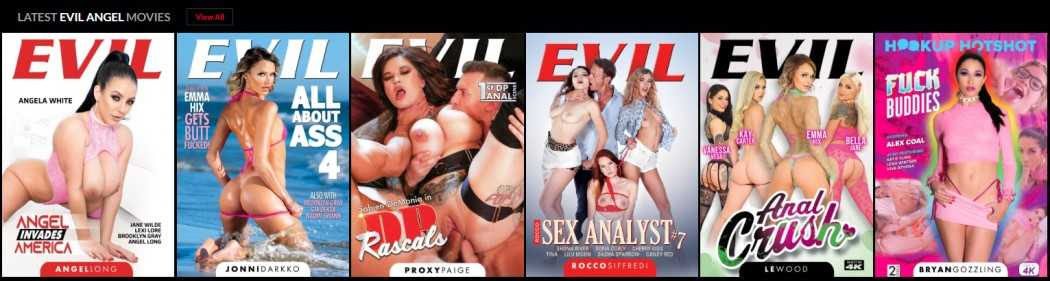 EvilAngels DVD collection - Read the full review at Darkangelreviews.com