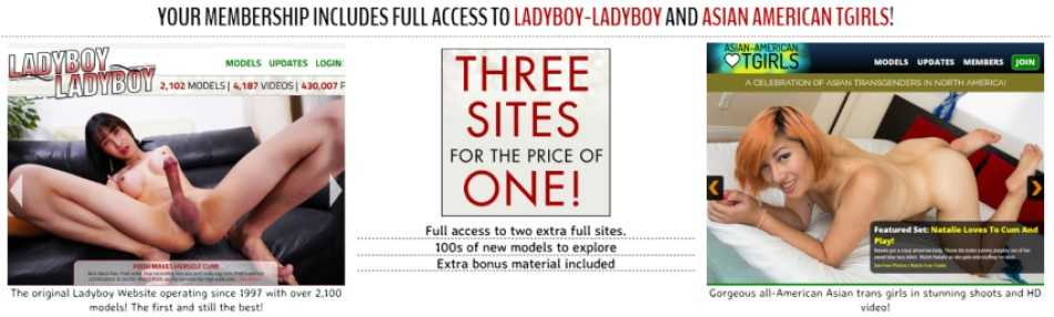 Join Ladyboy XXX - Get 2 more Asian Shemale sites for free - Read the full review at Darkangelreviews.com