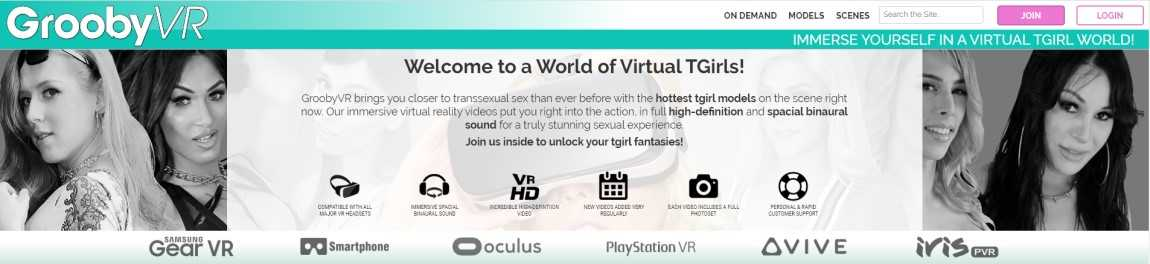 Grooby VR Review - Shemale VR Porn Site - By Darkangelreviews.com